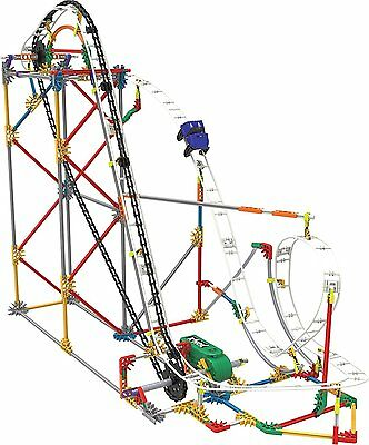 K'NEX Blizzard Blast Roller Coaster Building Set Ages 9+ New Toy Boys Girls Gift