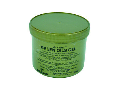 Gold Label Green Oils Gel - 400 g - Horse Care & First Aid