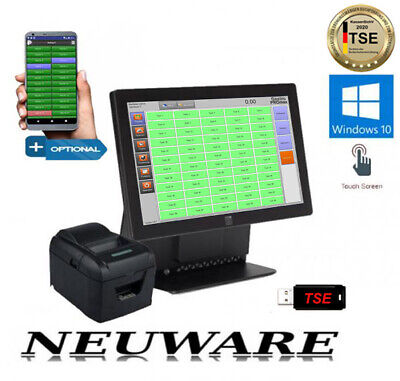 ALL IN ONE  GASTRO RESTAURANT TOUCHSCREEN KASSENSYSTEM NEU.OVP GdPDU WIN 7 GDPDU
