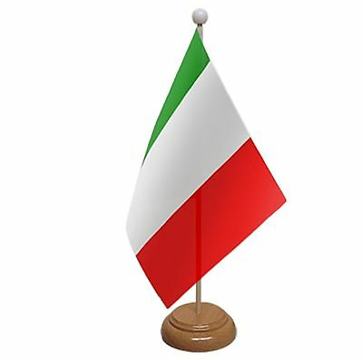 """Italy Table Flag 9""""x6"""" With Wooden Base Flags"""