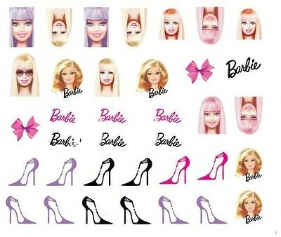 Nail Art Decals Transfers Stickers Barbie (A-523)
