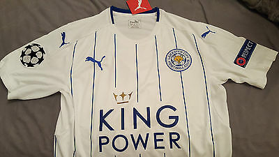 Brand New Lcfc Leicester City Champions League Home Away Blue White Red Shirt
