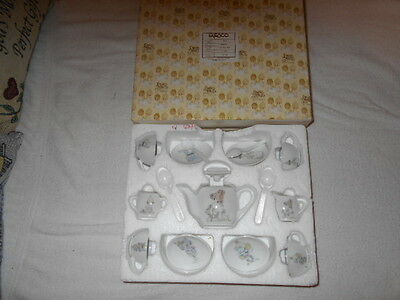 Enesco Precious Moments Toy Tea Set 16 Pieces   Enesco Precious Moments