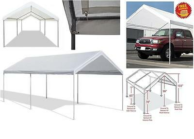 carport garage tent 10x20 car canopy shelter cover steel frame gazebo outdoor