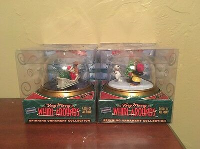 BLOCKBUSTER WHIRL AROUNDS Spinning Ornament CHARLIE BROWN CHRISTMAS RUDOLPH