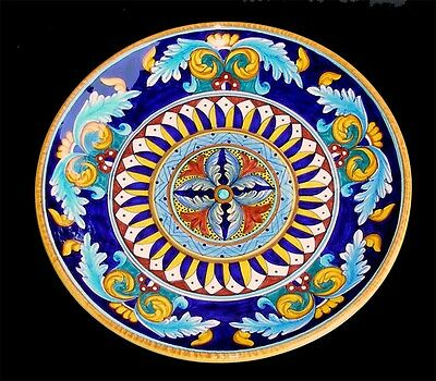 Deruta Italy Pottery Geometric Vario Plate Platter 12""