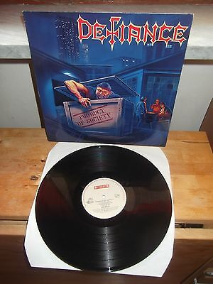 """DEFIANCE """"Product Of Society"""" LP ROADRACER NETHERLANDS 1989"""