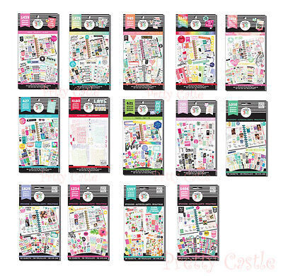 * 14 Designs * MAMBI The Happly Planner Value Sticker Pack - Classic Size