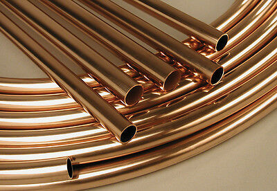 Copper Microbore 8mm-10mm-15mm-22mm Copper Pipe Tube - ALL Lengths Available