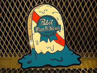 PBR ART Pabst Blue Ribbon Beer ~ Grave Sticker DELA DESO Pizza Tap Handle Artist