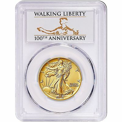 2016 W PCGS SP 70 Centennial Gold Coin 1/2 OZ Walking Liberty FIRST STRIKE OGP