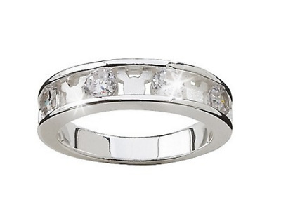 New✿Mickey Mouse Crystal Ring CZ✿Sterling Silver .925✿Disney Authentic✿Size 7