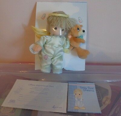 New  Precious Moments Limited Edition Numbered Collectible  Boy  Doll Angel