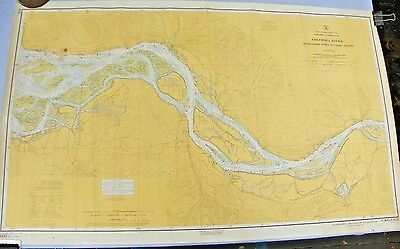 1962 Nautical Chart Columbia River Harrington Pt. to Crims Is. Oregon Washington