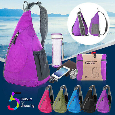 Lightweight Foldable Sling Backpack Crossbody Bag for Cycling Hiking Camping