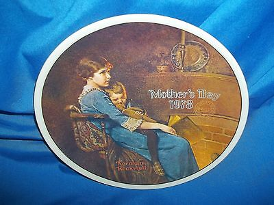 Great Norman Rockwell Plate Bedtime, Mothers Day 1978
