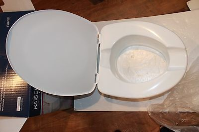 Drive Raised Toilet Seat with Lock and Lid 12067 PARTS NN (F1)