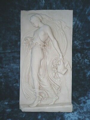 Vintage Marble Diana the Huntress Garden Wall Plaque.