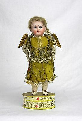 Antique German Bisque Head Christmas Angel Candy Container ca1900