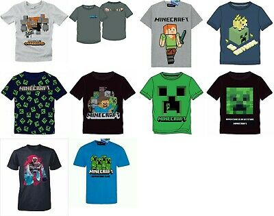 New Boys Licensed Jinx Minecraft Long Sleeve T-Shirts,  Bnwt, Cotton, Kids Top