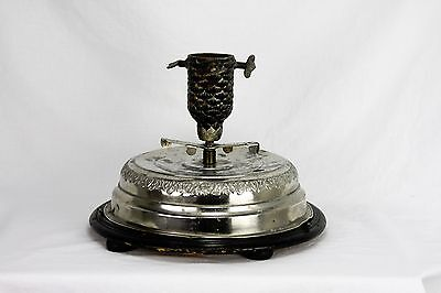 Antique German Small Table Top Musical Rotating Christmas tree Stand ca1910