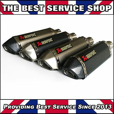 Universal 51mm Motorcycle Exhaust Carbon Slip on R1 R6 CBR GXSR YAMAHA AKRAPOVIC