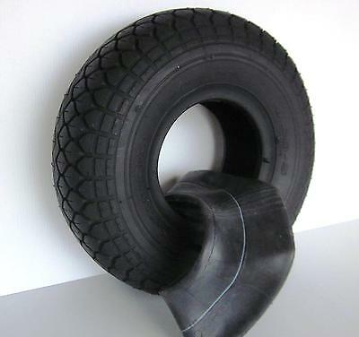"""Mobility Scooter Tyre 330 x 100 (4.00 x 5"""") and Tube Diamond Pattern & FREEPOST"""