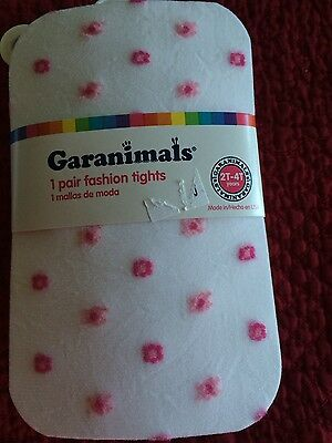 NEW Girls White Hose with Pink Flowers XS Age 2 3 4