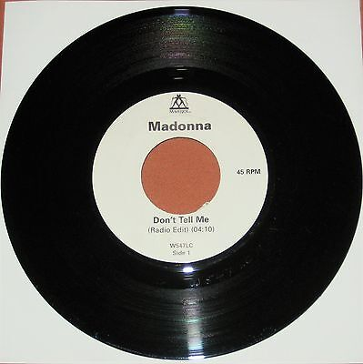 "Madonna Don't Tell Me 7"" Uk Maverick Jukebox 45 Rare Vinyl Single"