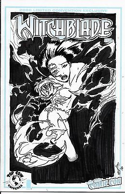 WITCHBLADE # 116 Blank Sketch Cover Sketched By KEU CHA One Of A Kind LQQK !!