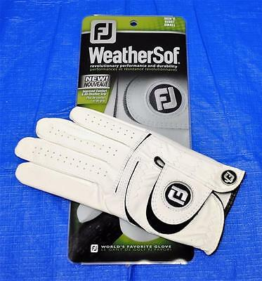 New Mens Footjoy WeatherSof golf glove Right Hand Small white