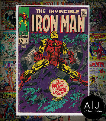 Iron Man #1 (Marvel) VG! HIGH RES SCANS!
