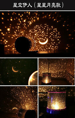 Beauty Projector Color Twilight Stars Star Master Night Light Lamp - Sleep Help