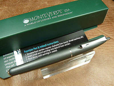 Monteverde Poquito Inkball Pen In Stone Grey Cartridge Fill Rollerball New/box
