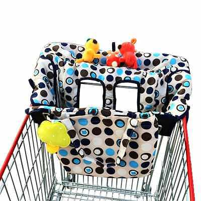 New Baby Infant 2 in 1 Shopping Cart Cover, High Chair Cover