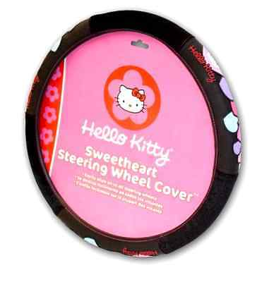 NEW Hello Kitty Officially Licensed Steering Wheel Cover Interior Car Accessory
