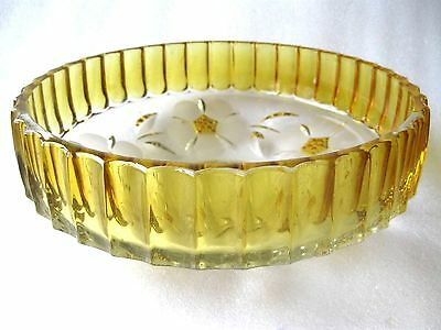 "Crystal Decorative Tableware Server Bowl "" Flowers """