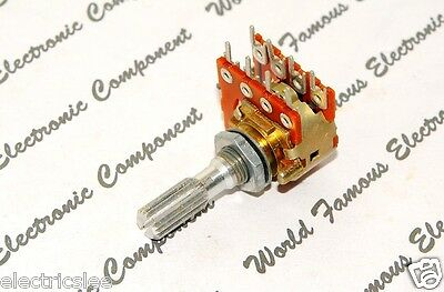 1pcs-ALPS 705P 250KA (250K typeA) Dual Step Carbon Potentiometer knurled-JAPAN