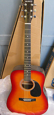 New York Pro Red Dawn Beginners Acoustic Guitar