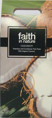 Faith In Nature Coconut Shampoo & Conditioner Twin Pack Gift Set Vegan Natural