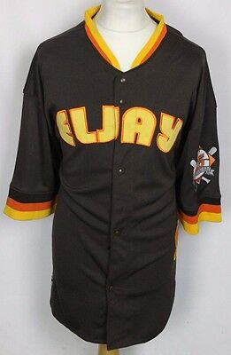 #25 Vintage Eljay Sport Baseball Jersey Shirt Mens Xl Brown