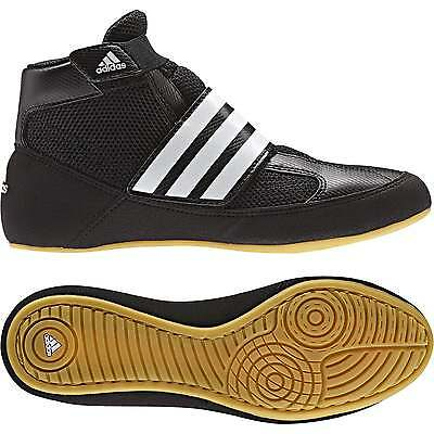 Adidas Havoc Kids Strap Boxing Boots - Black White Shoes Trainers