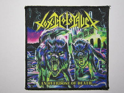 TOXIC HOLOCAUST An Overdose Of Death... new printed patch thrash metal