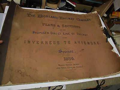 Highland Railway 1884 diagrams Inverness to Aviemore