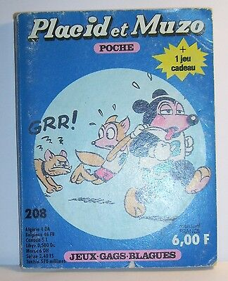 LIVRE BANDE DESSINEE BD MADE IN FRANCE ARNAL 162 PAGES PLACID MUZO POCHE N°208 c