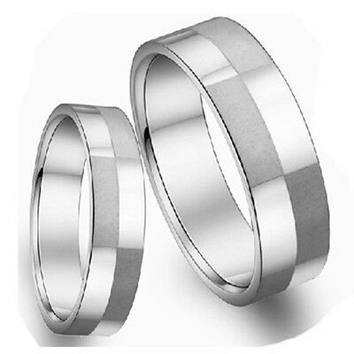 JZ127 Fashion plaid Titanium Steel Promise Ring Couple Wedding Bands Lover gift