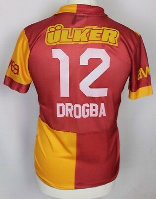 Drogba 12 Galatasaray Home Football Shirt Youths Large Unofficial Fan Style