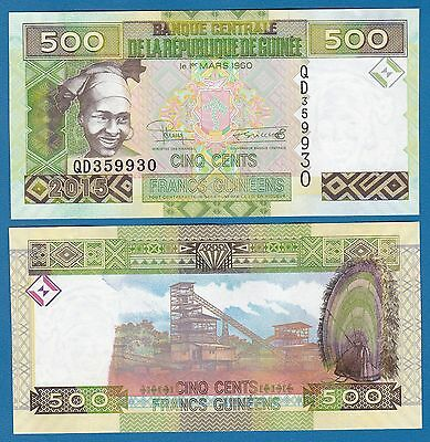 Guinea 500 Francs P New 2015 UNC Low Shipping! Combine FREE! (P-47 ?)