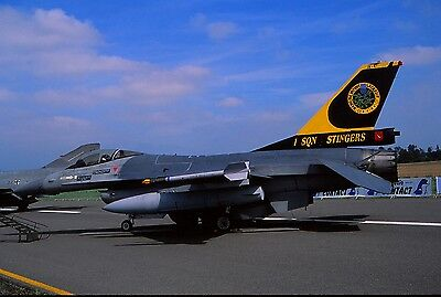 Original colour slide F-16A Fighting Falcon FA67 of 31 Sqn Belgian Air Force