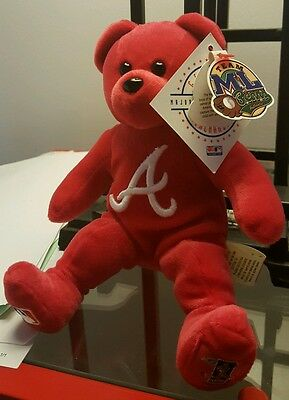 "CHIPPER JONES Atlanta Braves Team ML Bear #10 w/ Tags ""RARE""!!!"